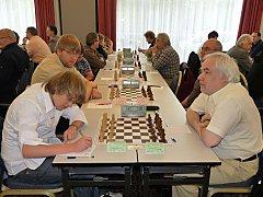 letzte Runde, erstes Brett: Thomas Baumgarten - Karl-Heinz Wesnigk